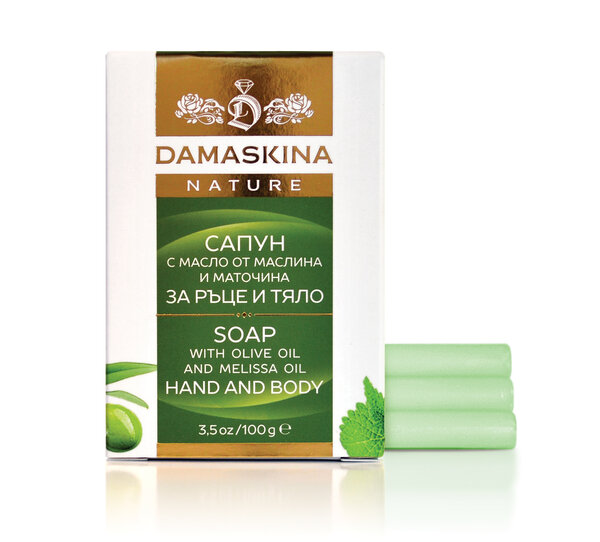 MOISTURIZING Soap for hands and body with olive oil and balm 100 g.